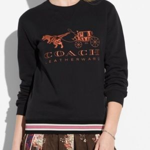 Coach Rexy and Carriage Black sweatshirt gold 1941